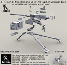 Live Resin 1:35 M3D/Dragon M-50 .50 Caliber Machine Gun on M3 Tripod LRE35140*