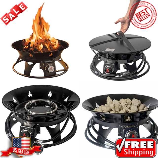 OUTLAND Firebowl Cypress Outdoor Firepit Carry Kit ... on Outland Living Cypress Fire Pit id=91278