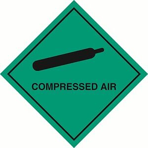 "Adhesives, Sealants & Tapes Systematic Health And Safety Hazard Sticker Compressed Air Sticker 5"" Green Hot Glue Sticks"