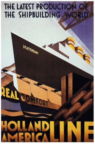 Holland Vintage Decoration /& Design Poster.Shipbuilding.Home art Decor 860i