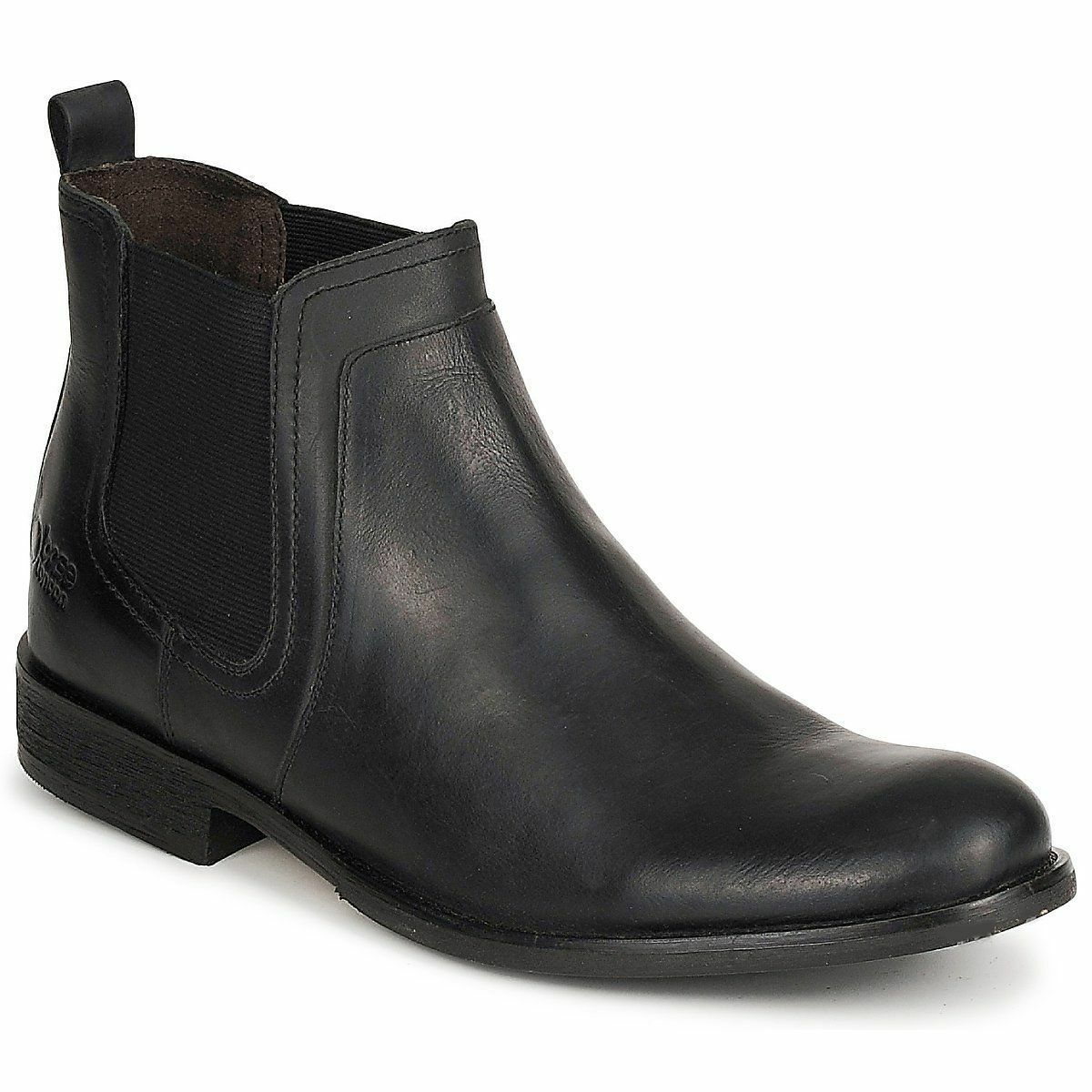 Base Leather London 'Dartmouth' Men's Black Leather Base Slip On Ankle Boots 3f3dec