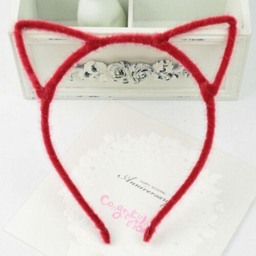 Coloful Headwear Cat Ear Hair Band for Girls Women Children Hair Accessories NJC