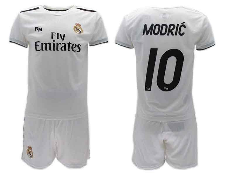 Set Modric Real Madrid Offizielle 2018 2019 Trikot Shorts Weiß Home