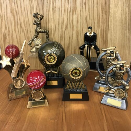 A  collection of Cricket Trophies with Free engraving,