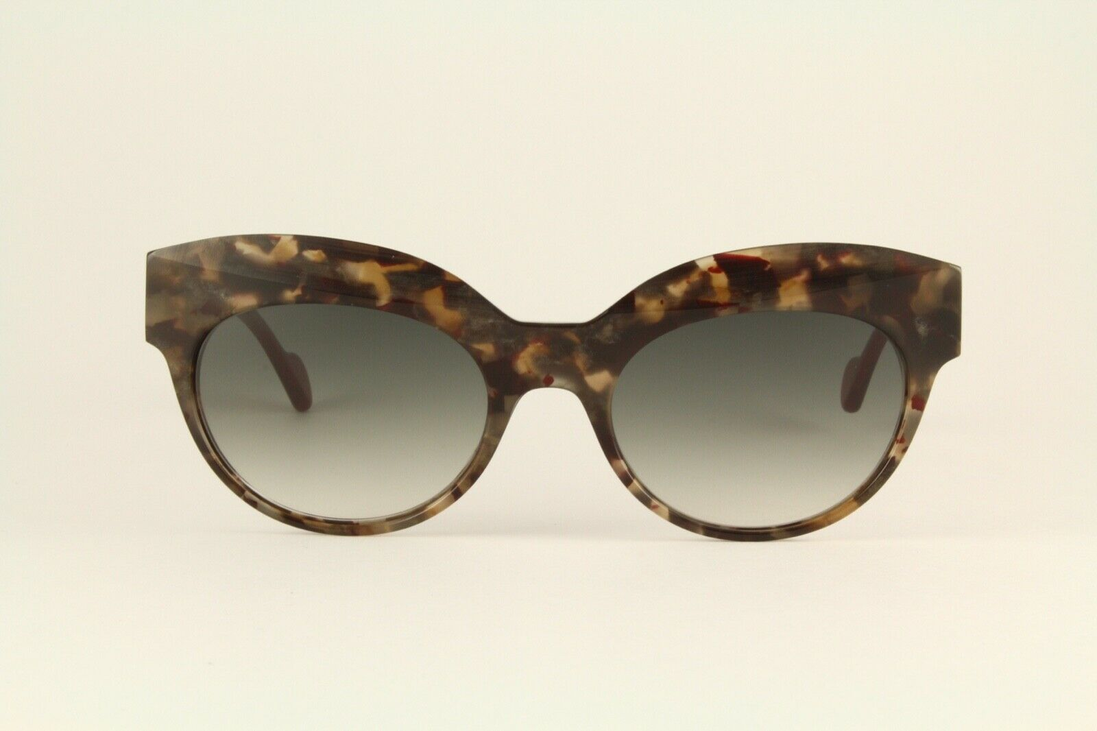 Rare Authentic Anne Et Valentin Cut 1503 Brown Marble Red 56mm Sunglasses