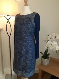 Whitestuff Blue Pinifore Dress size 14