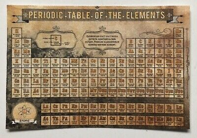 Vintage Periodic Table Halloween Dollhouse Miniature  1pc Science Lab E764