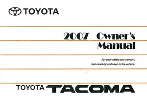 2007 toyota tacoma owners manual user guide reference operator book rh ebay com 2017 Tacoma Manual 2007 tacoma owners manual