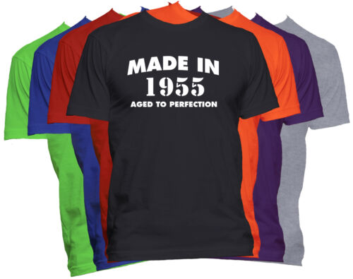 Made in 1955 T-Shirt Born in 1955 Tee Aged to Perfection Birthday T-Shirt