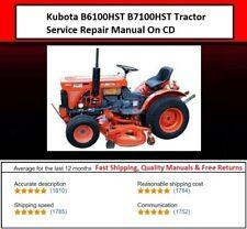 Kubota B6100hst B7100hst Tractor Service Repair Manual On Cd