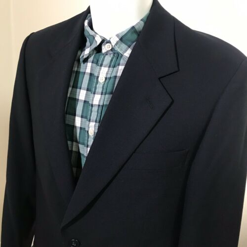 Top Alfani Mens Blazer 39R Sports Coat Cloth Woven 2 Button Black for cheap