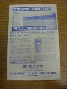 15-12-1945-Stockport-County-v-Southport-Division-3-North-West-some-tears-nick