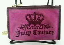 Juicy Couture Heart Logo Velvet Coin Change Pouch Purse Pink Key Ring