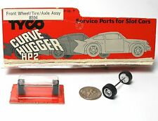 TYCO 440-X2 HP 2 7 Slot Car SILVER FRONT END WHEEL AXLE TIRE Tune Up Unused A++
