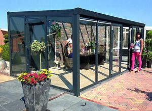 Gut gemocht Gartenzimmer Glas Komplett 700x400 cm Schiebetür Überdachung GA64