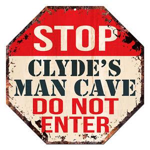 OTGM-0187-STOP-CLYDE-039-S-MAN-CAVE-Tin-Rustic-Sign-Man-Cave-Decor-Gift-Ideas