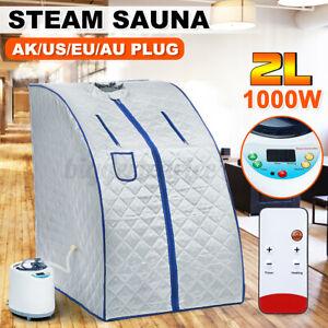 2L1000W Portable Sauna Steamer Tent Spa Salon Home Steam Slim Loss Weight Detox