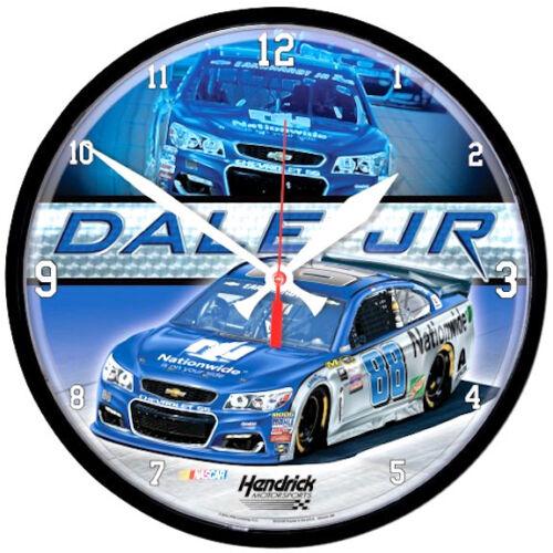 "#88 NATIONWIDE NASCAR 12/"" ROUND QUARTZ CLOCK 2016 DALE EARNHARDT JR"