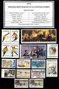 1976-ORIGINAL-YEAR-SET-OF-MINT-NH-MNH-VINTAGE-U-S-POSTAGE-STAMPS