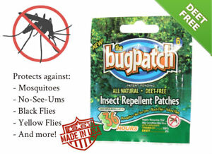Bug Patch DEET FREE Insect Repellent Mosquito Flies 72 Count Spray Bracelet
