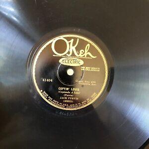 HOT JAZZ JACK PURVIS Okeh 41404 Copyin Louis/Mentel String at Dawn E  (A-1)