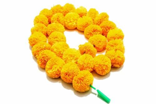 Artificial Genda Phool Marigold Fluffy Flower Garland For Home Diwali Decoration