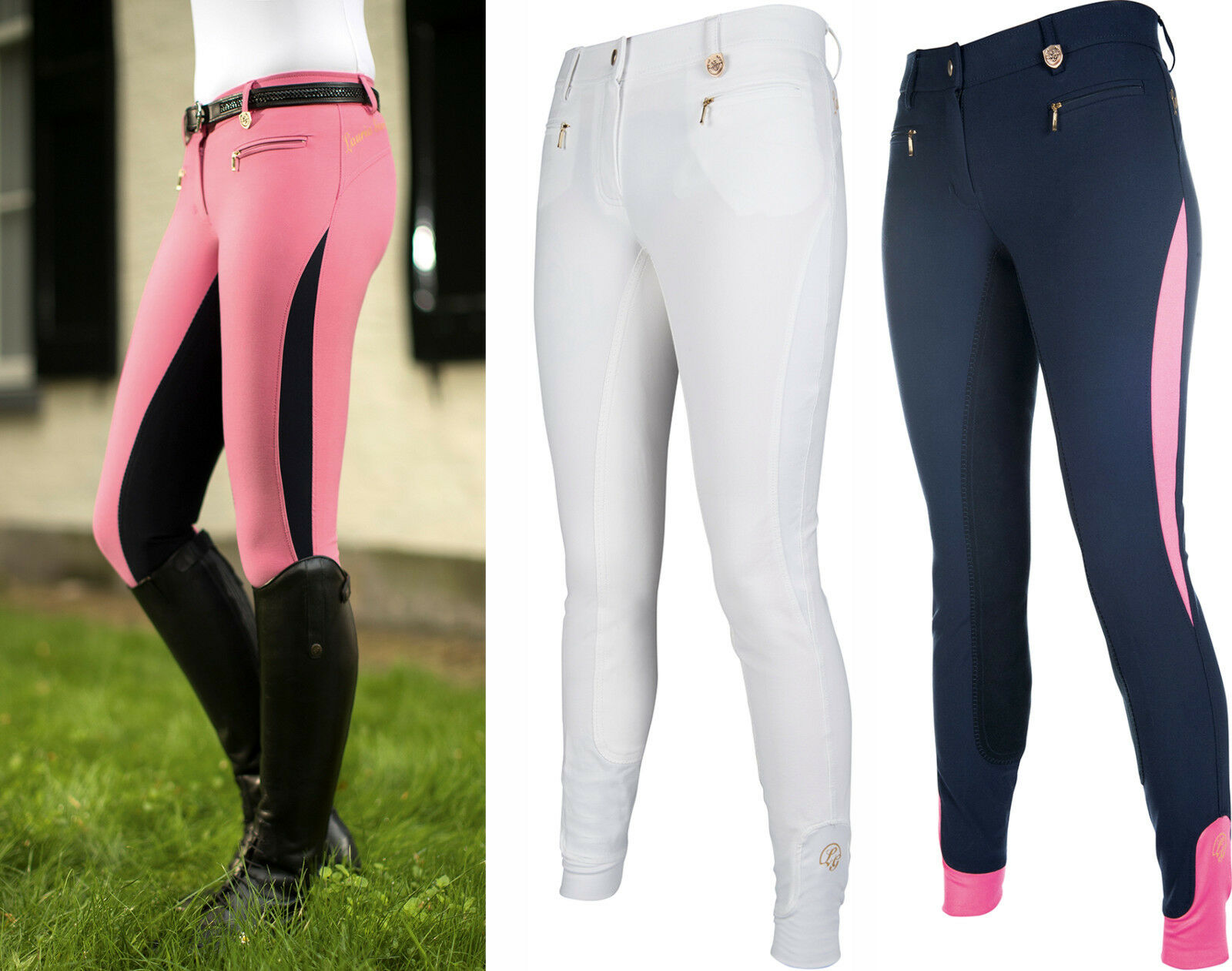 ⭐️ HKM Lauria  Garrelli Queens Elastic Riding Breeches 3 4 Alos (8790) ⭐️  up to 70% off
