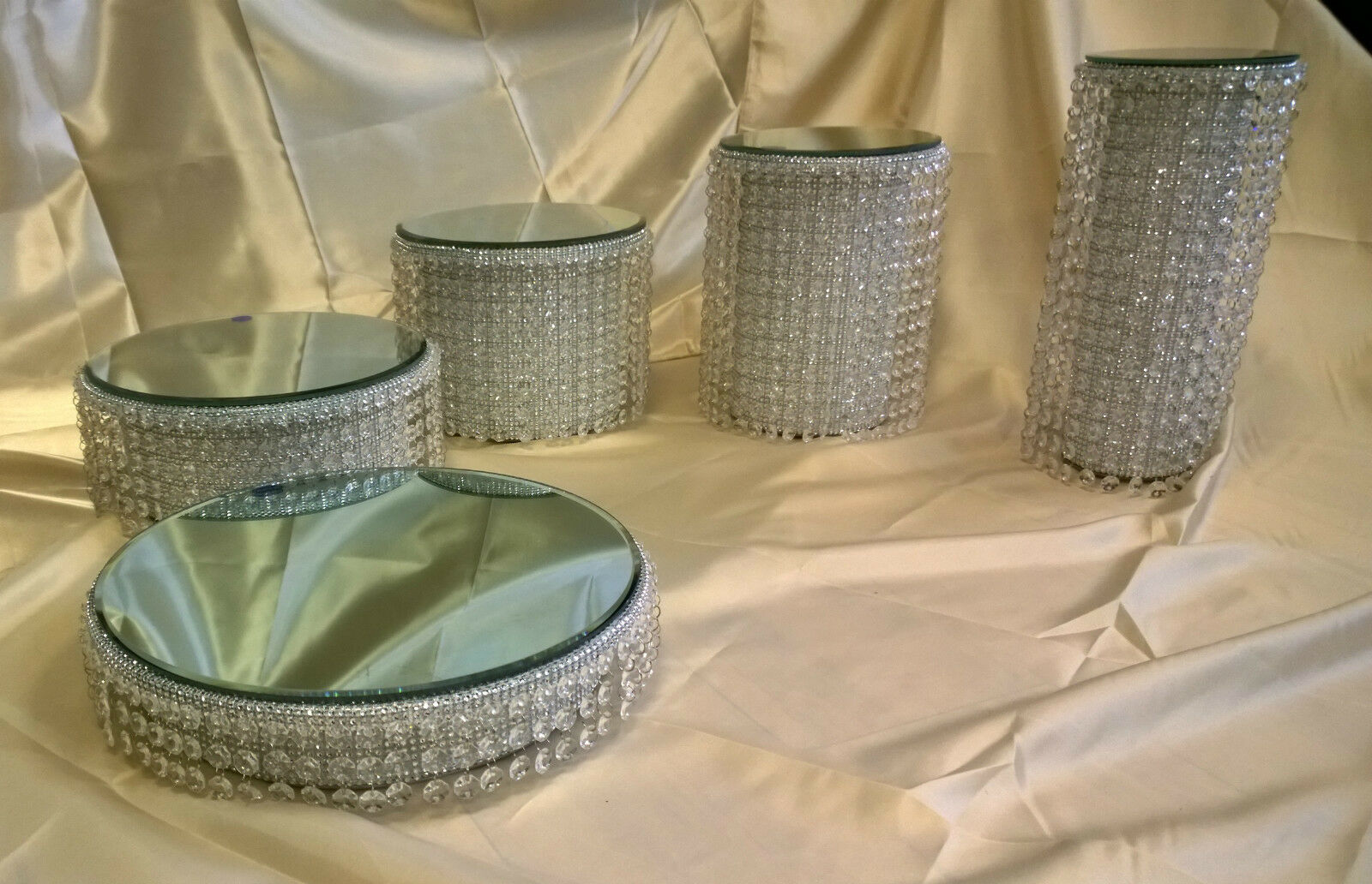Lustre cristal strass pilier wedding cake stands 1, 2, 3, 4, 5 niveaux,