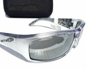 NEW* Arnette SAWBUCK in SILVER Metallic Sport CHROME Iridium Sunglass 4154 $120