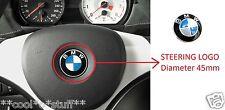 327- BMW LOGO MONOGRAM EMBLEM BADGE STEERING 45 mm Diameter 3 5 7 SERIES M3 M5