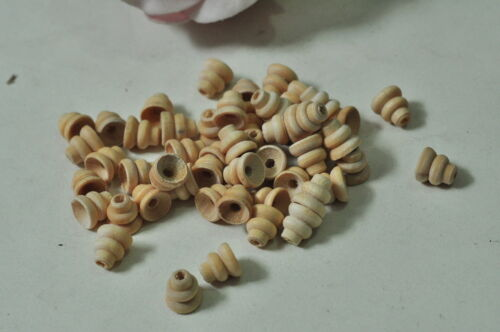 40pcs Wood Yoyo Unfinished Natural Wooden Bead Child Toy Painting Craft Handmade