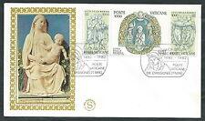1982 VATICANO FDC FILAGRANO GOLD LUCA DELLA ROBBIA NO TIMBRO ARRIVO - VT3