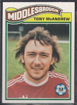 -#162- MIDDLESBROUGH ORANGE BACK 1978 TOPPS-FOOTBALL TONY MCANDREW