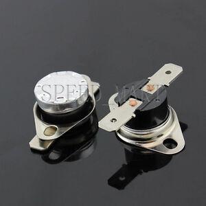 2 x Temperature Switch Control Sensor Thermal Thermostat 80°C N.O. KSD301