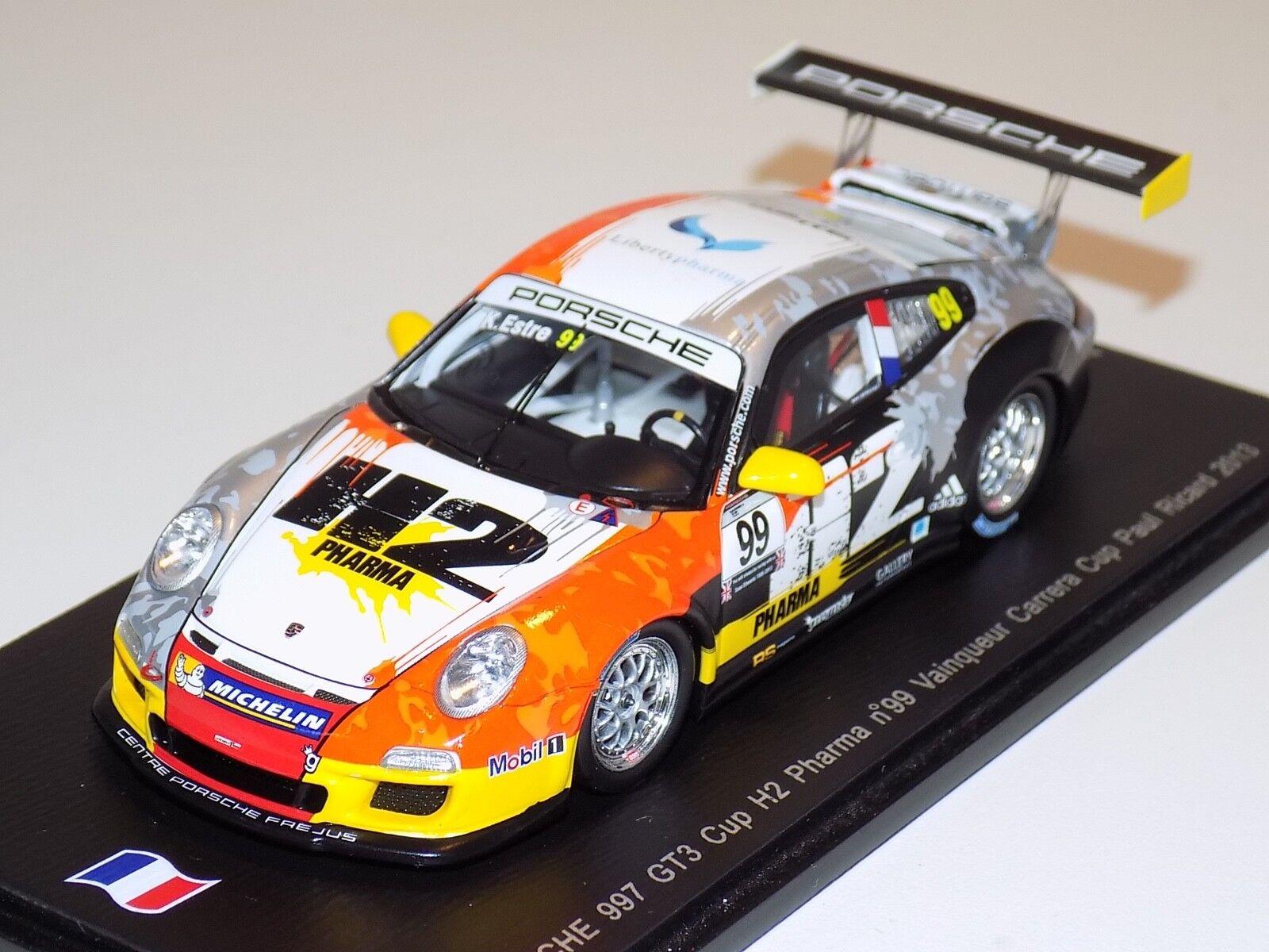 1 43 SPARK PORSCHE 911  997  GT3 CUP CAR  2 Winner Carrera Cup 2013 SF072