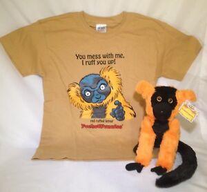 WOW-SALE-NOW-Red-Ruffed-Lemur-Stuffed-Animal-amp-Matching-T-Shirt-PocketFuzzies