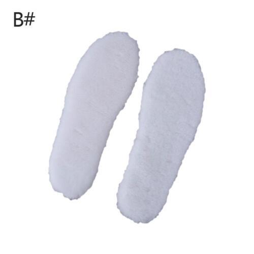 1Pair Warm Fur Insoles Soles Winter Thick Plush Pad Snow Boots Fur Insoles Pads