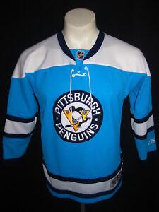 YXL MENS S REEBOK PITTSBURGH PENGUINS JERSEY HOCKEY NHL STEELERS USA ... 75cb1c7cb23