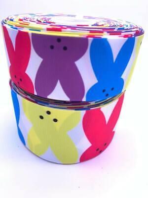 Rainbow Stripe Butterfly Grosgrain Ribbon 75mm Width Buy 4 get 5th Free