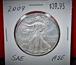 2009-Silver-American-Eagle-BU-1-oz-Coin-US-1-Dollar-Uncirculated-from-PCGS-Tube