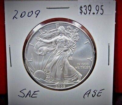 BU Silver Dollar Coins Ships USPS 2009 American Eagle 1 oz