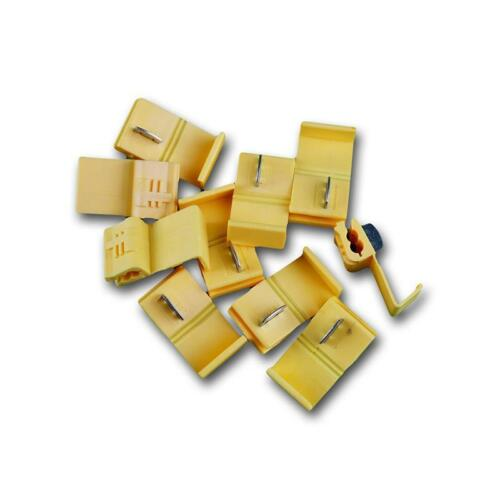 10 Pzi elettricità ladri RACCORDO a Y connettori giallo per 4,0-6,0mm²