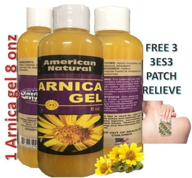 ARNICA MONTANA GEL CREAM 8 Oz PAIN RELIEF MUSCLE ACHES BRUISE ARTHRITIS & BACK