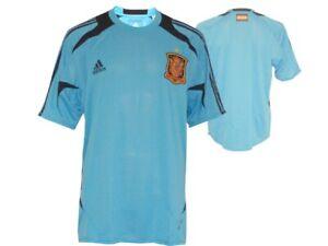 adidas-FEF-Spanien-Fussball-Training-Jersey-blau-Gr-L-XXL-Spain-Fan-Shirt-Top