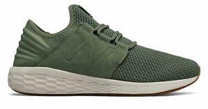 New-Balance-Men-039-s-Fresh-Foam-Cruz-V2-Nubuck-Shoes-Green-With-Green