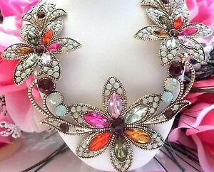 BEAUTIFUL-BETSEY-JOHNSON-MULTI-COLOR-FLORAL-LINKED-STATEMENT-NECKLACE