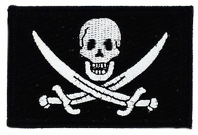 Parche bandera PATCH PIRATA JACK RACKHAM 7x4,5cm bordado termoadhesivo nuevo