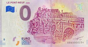 BILLET-0-EURO-PONT-NEUF-PARIS-FRANCE-2018-NUMERO-SUITE-234