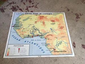Carte Afrique Ouest Et Centre.Details Sur Ancienne Carte Scolaire Centre Ouest Afrique Et Maroc N 19 20 Ed Rossignol Ecole