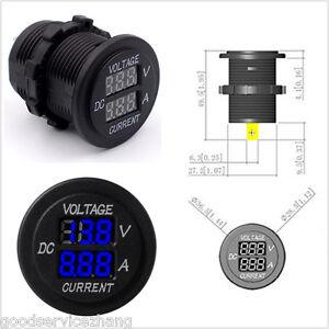 New Dual LED Digital Panel Voltmeter Ammeter 12V -24V Amp Volt Gauge Meter